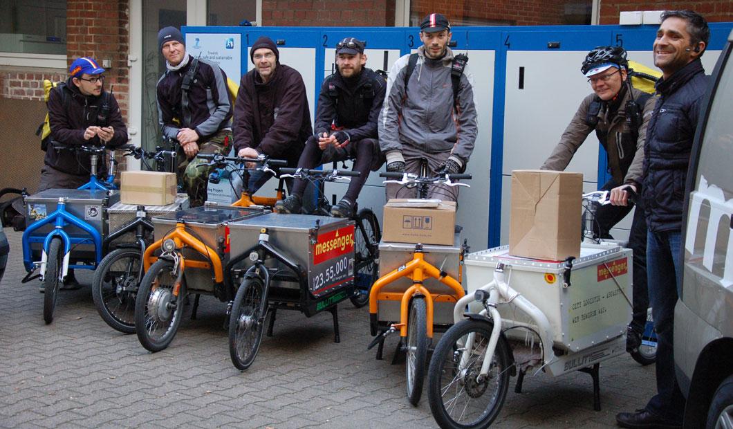 Sauberer Und Effizienter Lieferverkehr In Der Innenstadt Mit Der 'BentoBox'.
